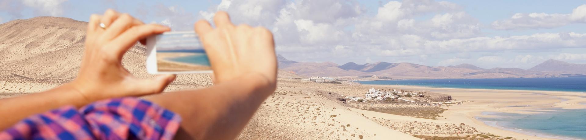 Spanien: Fuerteventura Smartphone Foto Strand