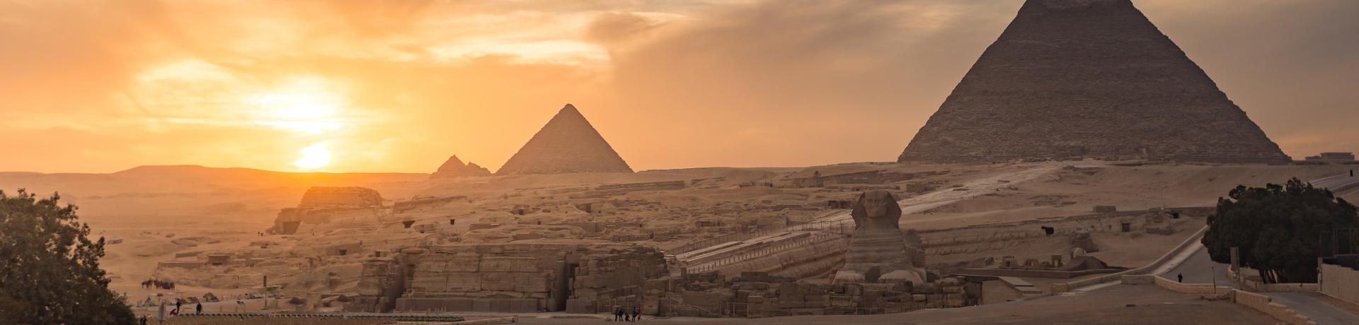 Ägypten: Sphinx - Pyramiden - panorama (png)