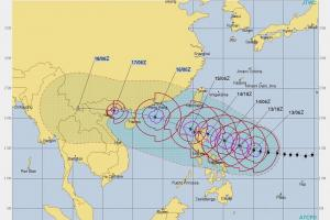 Supertaifun Mangkhut. Grafik: JTWC