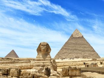 Pyramiden von Gizeh und der Sphinx - Kairo