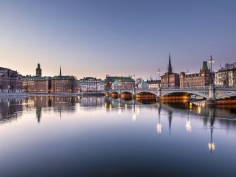 Insel Riddarholmen - Stockholm am Abend