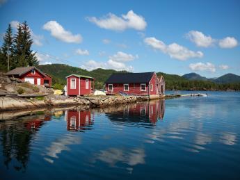 Rote Schwedenhäuser - Schwedische Idylle