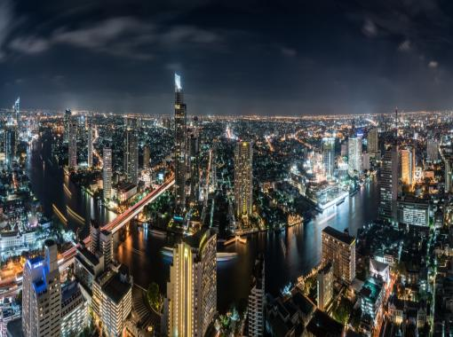 Bangkok Skyline nachts - Bangkok