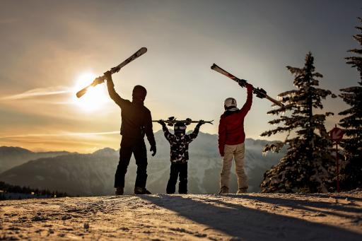 Familie-Ski-Winter