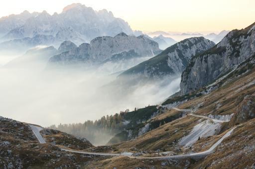 Mangartsattel - Berg Mangart (Julischen Alpen)
