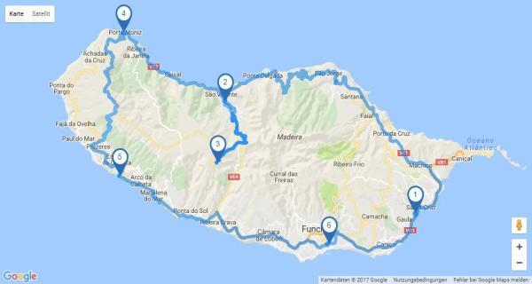 Rundreise_Portugal: Madeira - Map