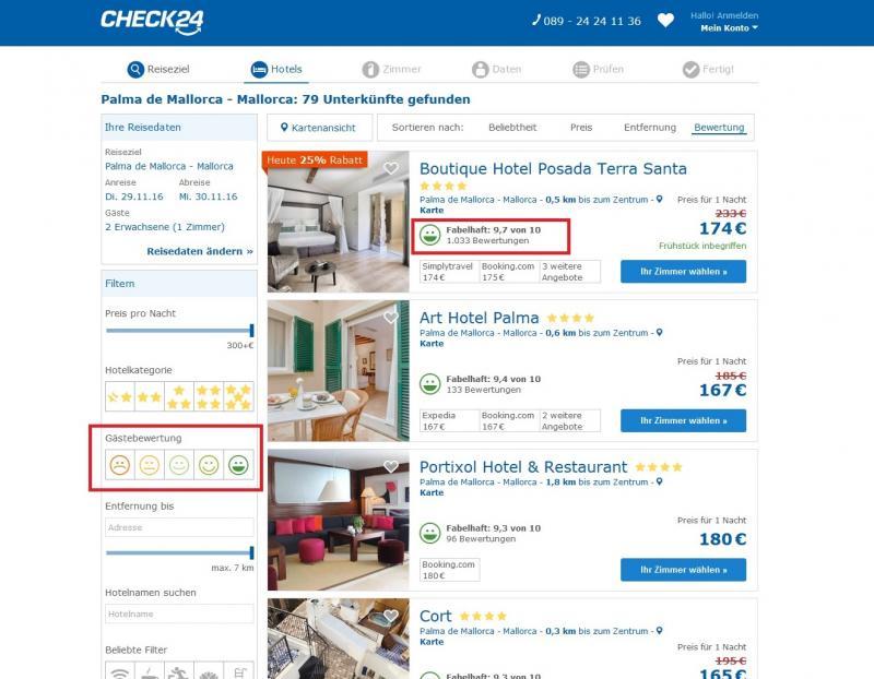 10 dinge die sie bei der hotelauswahl beachten sollten reisewelt check24. Black Bedroom Furniture Sets. Home Design Ideas