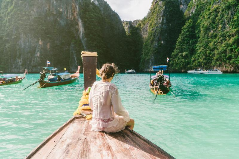 Single Urlaub: Thailand - Krabi - Boot - Frau - Natur