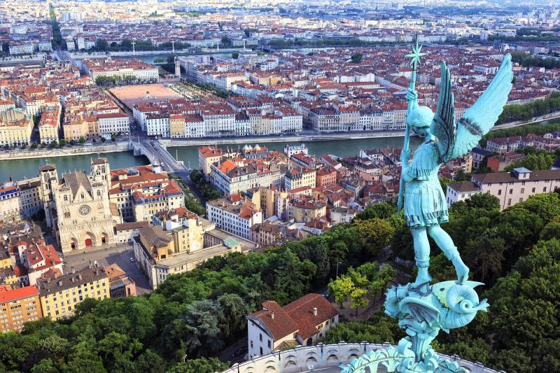 Frankreich: Lyon - Luftaufnahme