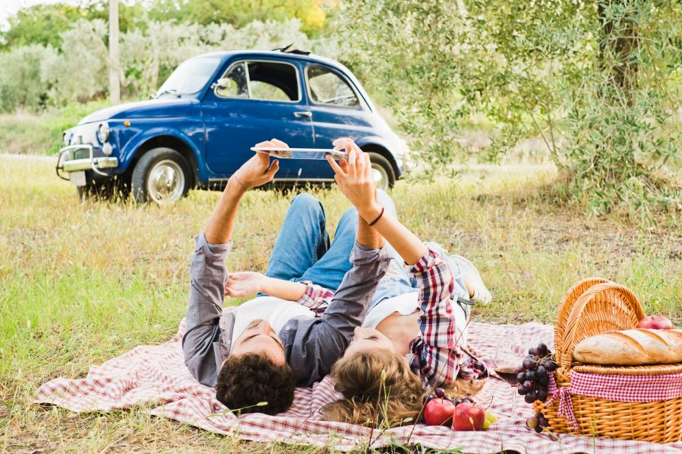 Sonstiges: Auto - Pause - Picknick